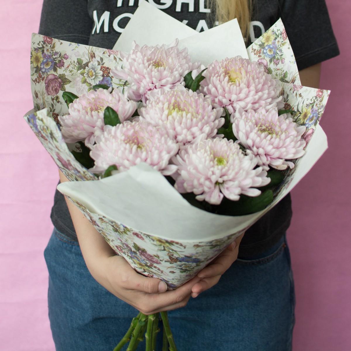 7 хризантем одноголовых