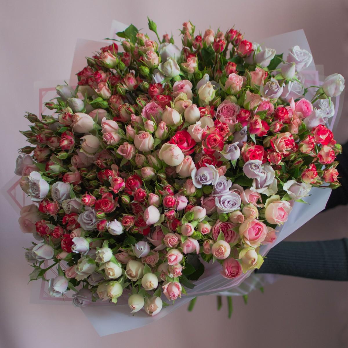 """39 кустовых роз """"Микс"""""""