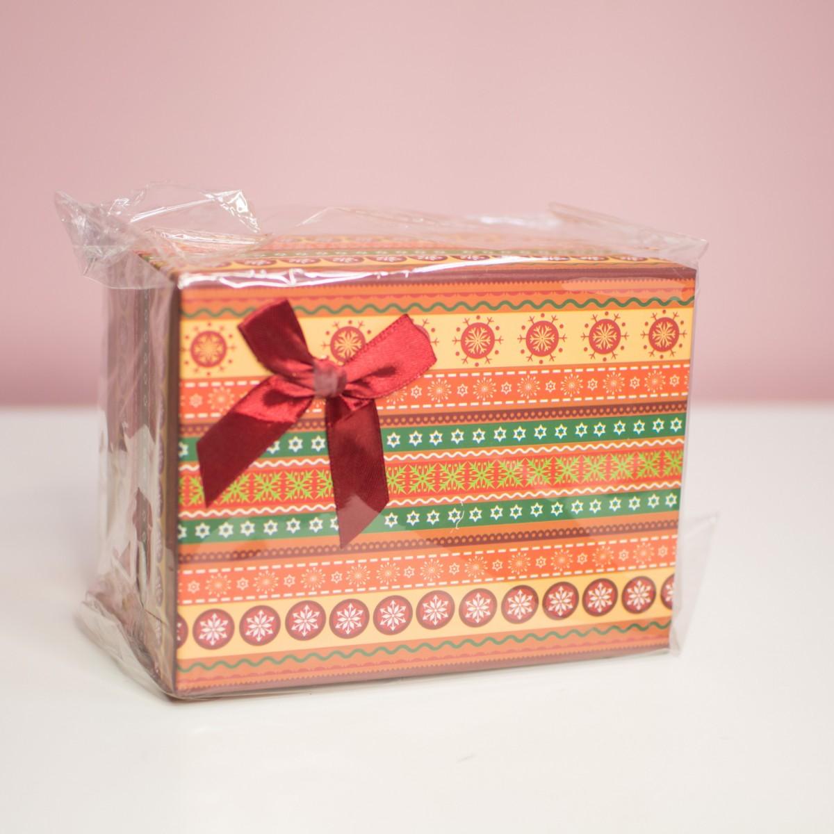 Оранжевая подарочная коробка
