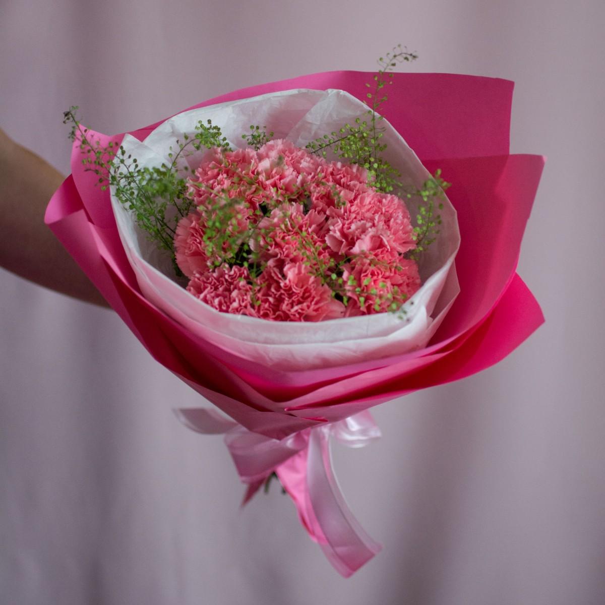"""Розовые гвоздики """"Барби"""""""