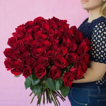 Красные розы 60 см