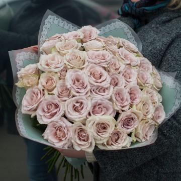 49 роз 60 см сорта Quicksand, Pink