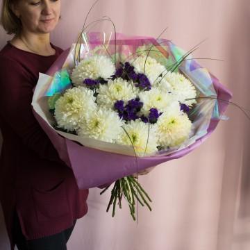 Букет с хризантемами «Алиса»