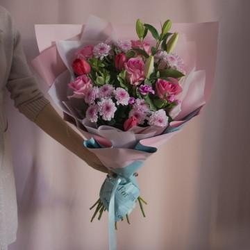 Букет с хризантемами «Восторг»