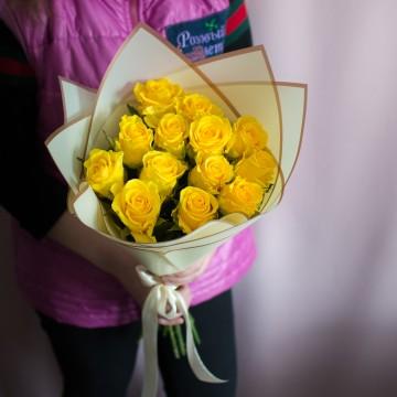 13 желтых роз