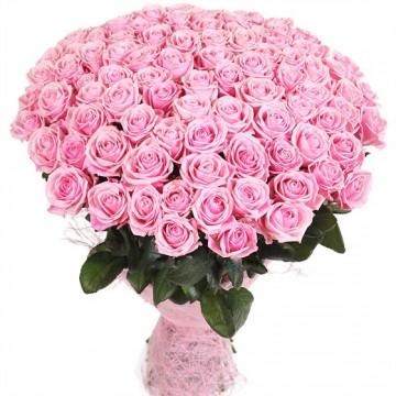 Розовая 101 роза